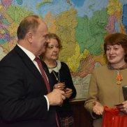 Встреча военных писателей с Г. А. Зюгановым | МОО «Союз православных женщин»