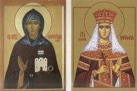 Две святые Евфросинии