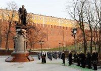Открытие первого памятника императору Александру I в Москве